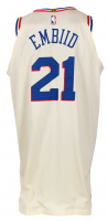 Joel Embiid Game-Used 76ers Jersey (Fanatics Hologram) at PristineAuction.com