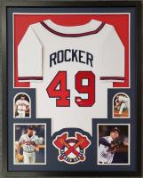 "John Rocker Signed 34x42 Custom Framed Jersey Inscribed ""F*** NY"" (JSA COA) at PristineAuction.com"