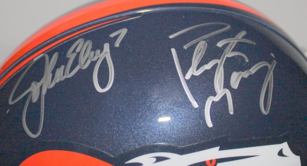 034ce6f0e Peyton Manning   John Elway Signed Broncos Full-Size Helmet (Elway Hologram    Steiner