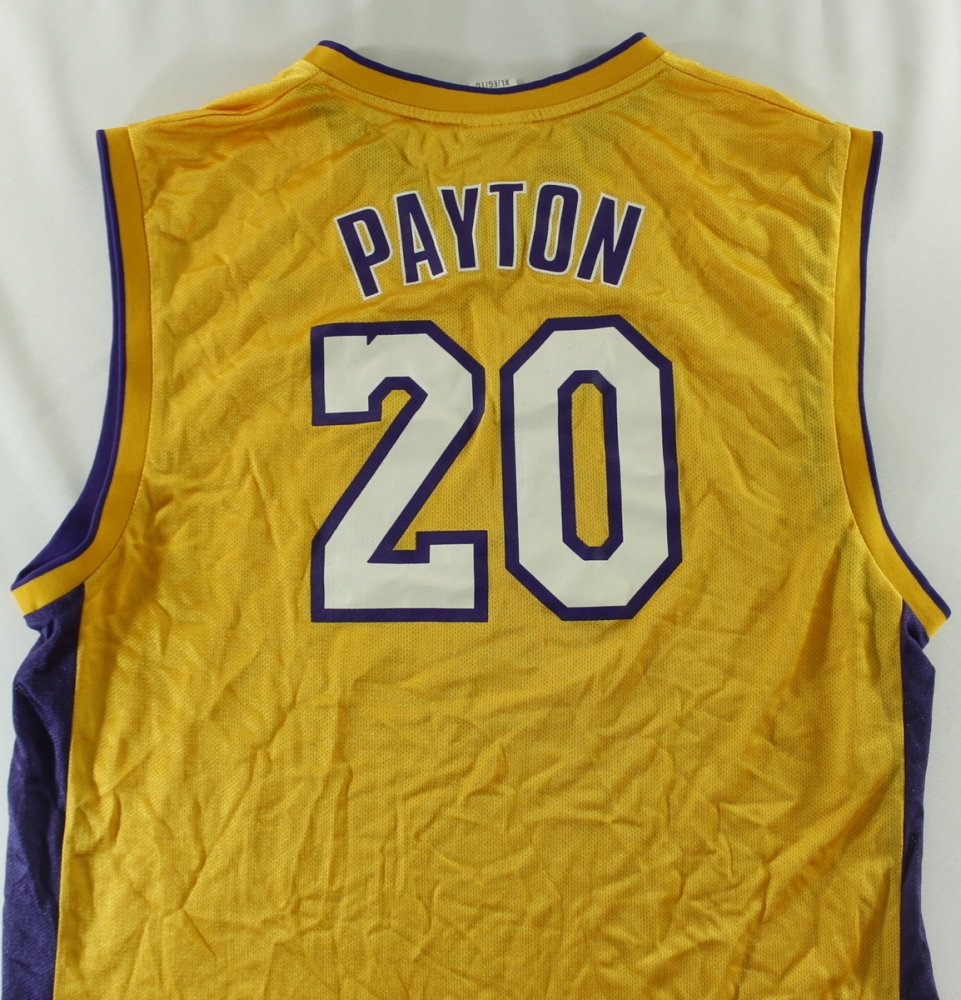 3dc78ad6ea0 Unsigned Gary Payton Lakers Jersey (Size XL) at PristineAuction.com