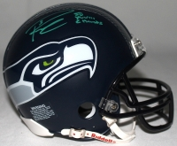 """Russell Wilson Signed Seahawks Mini-Helmet Inscribed """"SB XLVIII Champs"""" (Wilson Hologram) at PristineAuction.com"""
