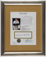 Mickey Mantle Signed Yankees 13x16 Custom Framed Stat Sheet (JSA ALOA) at PristineAuction.com