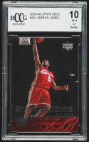 LeBron James 2003-04 Upper Deck #301 RC (BCCG 10) at PristineAuction.com
