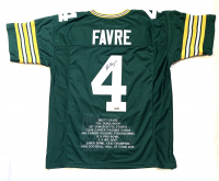 Brett Favre Signed Career Highlight Stat Jersey (Radtke COA) at PristineAuction.com