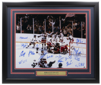 "1980 Team USA ""Miracle on Ice"" 16x20 Custom Framed Photo Display Team-Signed by (15) with Jim Craig, Mike Eruzione, Craig Patrick, Ken Morrow (Steiner Hologram) at PristineAuction.com"