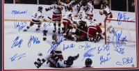 """1980 Team USA """"Miracle on Ice"""" 22x27 Custom Framed Photo Display Team-Signed by (15) with Jim Craig, Mike Eruzione, Craig Patrick, Ken Morrow (Steiner Hologram) at PristineAuction.com"""