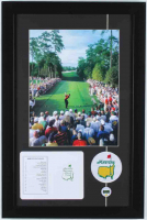 "Tiger Woods ""Masters"" 14x21 Custom Framed Photo Display with Official Scorecard & Pin at PristineAuction.com"