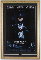Batman Returns 15x22 Custom Framed Poster Display with Official Pin at PristineAuction.com
