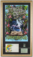 Disneyland Cruise 15x26 Custom Framed Poster Display with Vintage Souvenir Postcard, Jungle Cruise Pin, & Cruise Ticket at PristineAuction.com