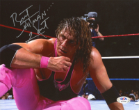 "Bret ""Hitman"" Hart Signed WWE 8x10 Photo (PSA COA) at PristineAuction.com"