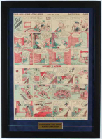 Vintage 1936 Mickey Mouse / Silly Symphony 18x25 Custom Framed Newspaper Print Display at PristineAuction.com