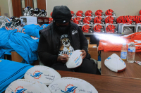 "Ricky Williams Signed Dolphins Logo Football Inscribed ""Smoke Weed Everyday!"" (Radtke Hologram) at PristineAuction.com"