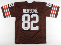 "Ozzie Newsome Signed Jersey Inscribed ""Go Browns"" (PSA COA) at PristineAuction.com"