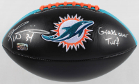 "Ricky Williams Signed Dolphins Logo Football Inscribed ""Grass Over Turf"" (Radtke Hologram) at PristineAuction.com"