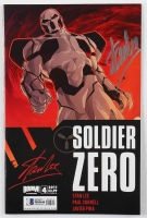 "Stan Lee Signed 2011 ""Stan Lee's Soldier Zero"" Issue #4 Variant B Cover Boom Comic Book (Beckett COA) at PristineAuction.com"