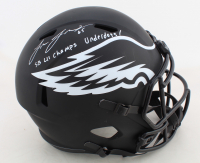 "Lane Johnson Signed Eagles Full-Size Eclipse Alternate Speed Helmet Inscribed ""SB LII Champs Underdogs!"" (JSA COA) at PristineAuction.com"