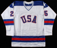 "Buzz Schneider Signed Jersey Inscribed ""Miracle on Ice"" (JSA COA) at PristineAuction.com"