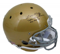 "Lou Holtz Signed Notre Dame Fighting Irish Full-Size Helmet Inscribed ""Save Jimmy Johnson's A** For Me"" (JSA COA) at PristineAuction.com"
