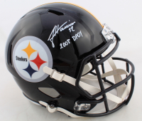 """James Harrison Signed Steelers Full-Size Speed Helmet Inscribed """"2008 DPOY"""" (Beckett COA) at PristineAuction.com"""