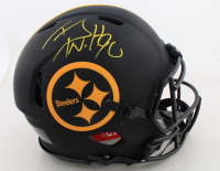 T.J. Watt Signed Steelers Full-Size Authentic On-Field Eclipse Alternate Speed Helmet (Beckett COA) at PristineAuction.com