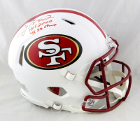 "Joe Montana Signed 49ers Full-Size Authentic On-Field Matte White Speed Helmet Inscribed ""HOF 2000"" & ""4x SB Champs"" (Beckett Hologram) at PristineAuction.com"