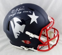 "Randy Moss Signed Patriots Full-Size Authentic On-Field AMP Alternate Speed Helmet Inscribed ""Straight Cash Homie"" (Beckett Hologram) at PristineAuction.com"