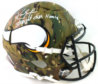 Randy Moss Signed Vikings Full-Size Authentic On-Field Camo Alternate Speed Helmet (Beckett Hologram) at PristineAuction.com