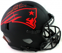 """Randy Moss Signed Patriots Full-Size Authentic On-Field Eclipse Alternate Speed Helmet Inscribed """"Straight Cash Homie"""" (Beckett Hologram) at PristineAuction.com"""