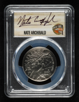 Nate Archibald Signed 2020-D Basketball Hall of Fame Half Dollar, Clad - First Day of Issue (PCGS MS70) at PristineAuction.com