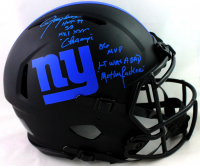 Lawrence Taylor Signed Giants Full-Size Authentic On-Field Eclipse Alternate Speed Helmet With Multiple Inscriptions (Beckett Hologram) at PristineAuction.com
