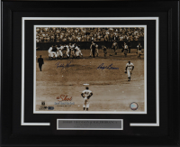 Ralph Branca & Bobby Thomson Signed 18.5x22.5 Custom Framed Photo Display (AIV COA) at PristineAuction.com