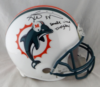 """Ricky Williams Signed Dolphins Full-Size Authentic On-Field Throwback Helmet Inscribed """"Smoke Weed Everyday"""" (JSA Hologram) at PristineAuction.com"""
