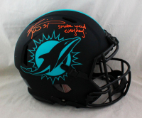 """Ricky Williams Signed Dolphins Full-Size Authentic On-Field Eclipse Alternate Speed Helmet Inscribed """"Smoke Weed Everyday!"""" (Beckett Hologram) at PristineAuction.com"""