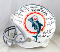 1972 Dolphins Full-Size Authentic On-Field Throwback Helmet Team-Signed by (27) with Bob Griese, Jake Scott, Dick Anderson, Mercury Morris, Al Jenkins (JSA Hologram) at PristineAuction.com