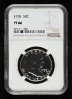 1958 Franklin Silver Half Dollar (NGC PF66) at PristineAuction.com