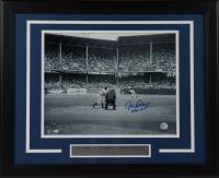 "Johnny Podres Signed Dodgers 18.5x22 Custom Framed Photo Display Inscribed ""55 WS MVP"" (AIV COA) at PristineAuction.com"