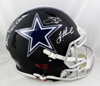 Troy Aikman, Emmitt Smith, & Michael Irvin Signed Cowboys Full-Size Authentic On-Field Matte Black Speed Helmet (Beckett Hologram) at PristineAuction.com