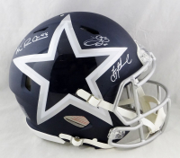 Troy Aikman, Emmitt Smith, & Michael Irvin Signed Cowboys Full-Size Authentic On-Field AMP Alternate Speed Helmet (Beckett Hologram) at PristineAuction.com