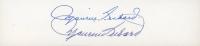 Maurice Richard Twice-Signed 2x6 Cut (JSA COA) (See Description) at PristineAuction.com