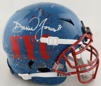 Daniel Jones Signed Full-Size Authentic On-Field Hydro-Dipped Vengeance Helmet (Beckett COA) at PristineAuction.com