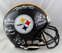 Steelers Full-Size Authentic On-Field Helmet Signed by (5) With Hines Ward, Terry Bradshaw, Franco Harris, Lynn Swann & Santonio Holmes With (5) MVP Inscriptions (JSA Hologram) at PristineAuction.com