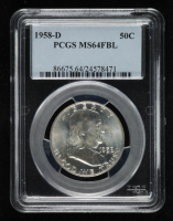 1958-D Franklin Silver Half Dollar (PCGS MS64 Full Bell Line) at PristineAuction.com