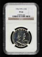1956 Franklin Silver Half Dollar, Type 2 (NGC PF66) at PristineAuction.com
