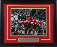 "Len Dawson Signed Chiefs 18x22 Custom Framed Photo Display Inscribed ""HOF 87"" (AIV COA) (See Description) at PristineAuction.com"