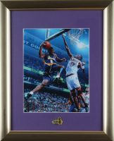 Kobe Bryant & Dikembe Mutombo 13x16 Custom Framed Photo Display with 2009 NBA The Finals Lapel Pin (See Description) at PristineAuction.com