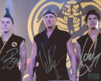 "William Zabka, Xolo Mariduena, & Jacob Bertrand Signed ""Cobra Kai"" 8x10 Photo (Radtke COA) at PristineAuction.com"