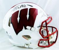 J.J., T.J. & Derek Watt Signed Wisconsin Badgers Full-Size Authentic On-Field Speed Helmet (JSA Hologram) at PristineAuction.com