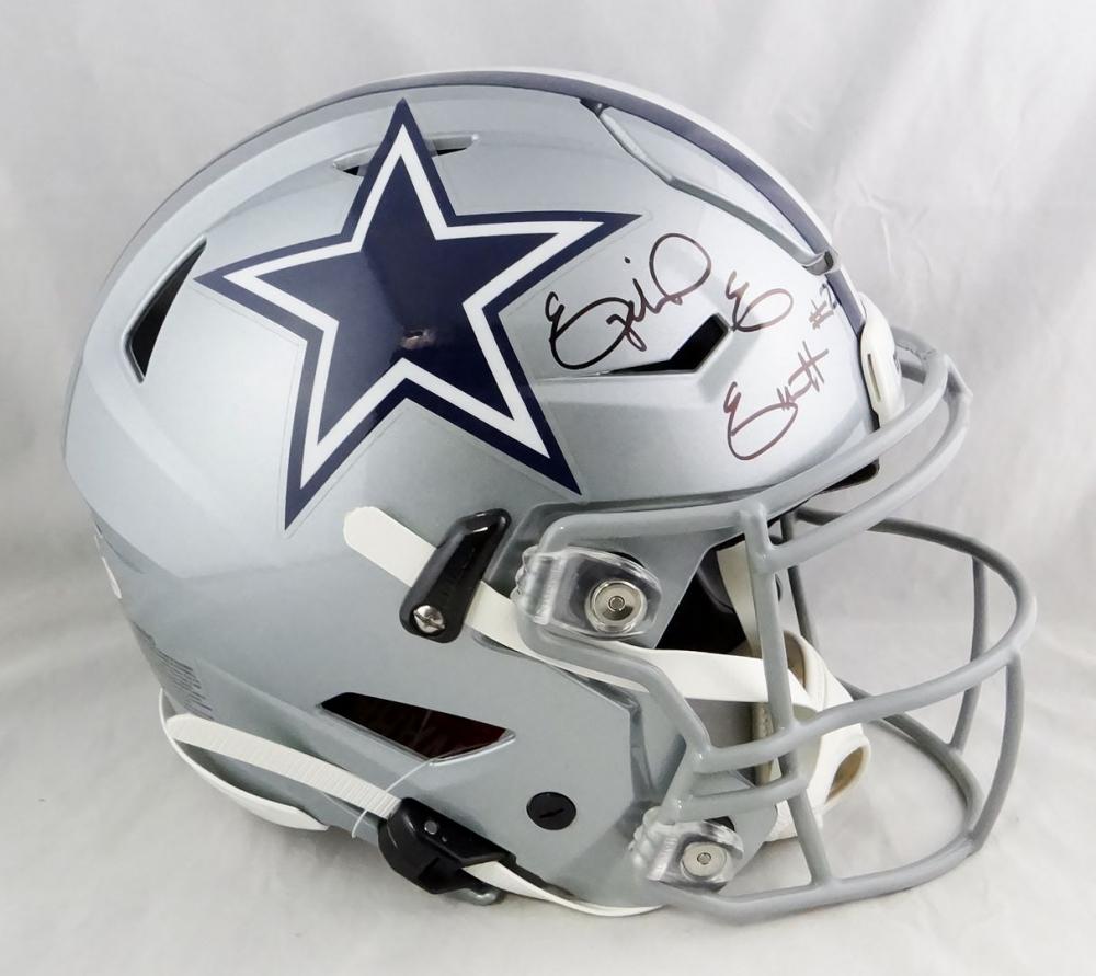 Ezekiel Elliott Signed Cowboys Full-Size Authentic On-Field SpeedFlex Helmet (Beckett Hologram) at PristineAuction.com