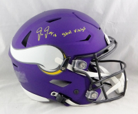 "Justin Jefferson Signed Vikings Full-Size Authentic On-Field SpeedFlex Helmet Inscribed ""Skol Vikings"" (Beckett Hologram) at PristineAuction.com"