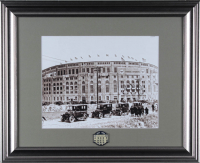 Yankee Stadium 13x16 Custom Framed Photo Display with Old Yankee Stadium Lapel Pin (See Description) at PristineAuction.com